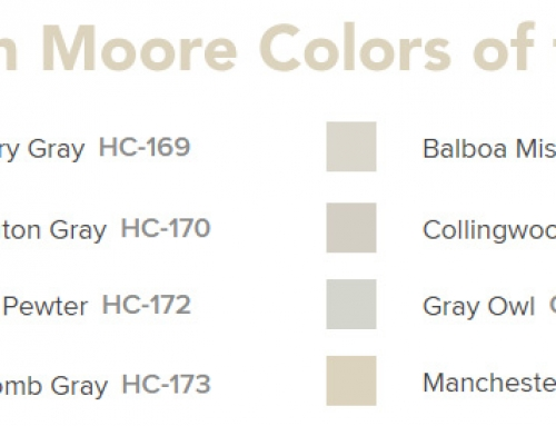 Check out Benjamin Moore's hottest colors this year!