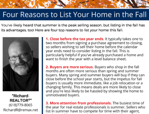 Four Reasons to List Your Home in the Fall